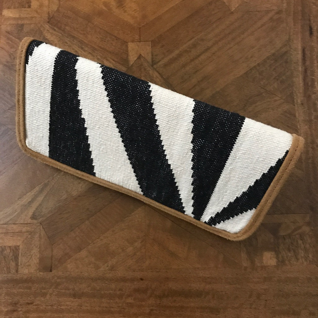 Black & White Dhurrie Purse_ The Hues of India