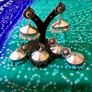 Beads Jhumka Bohemian Earrings at The Hues of India