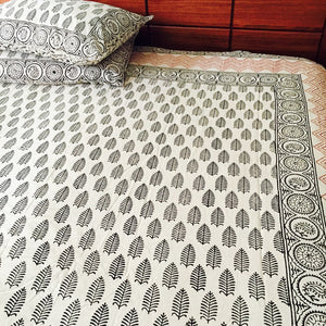 Fern Blockprint Bedsheet set