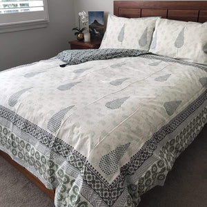 Galaxy Green Quilt Cover Set