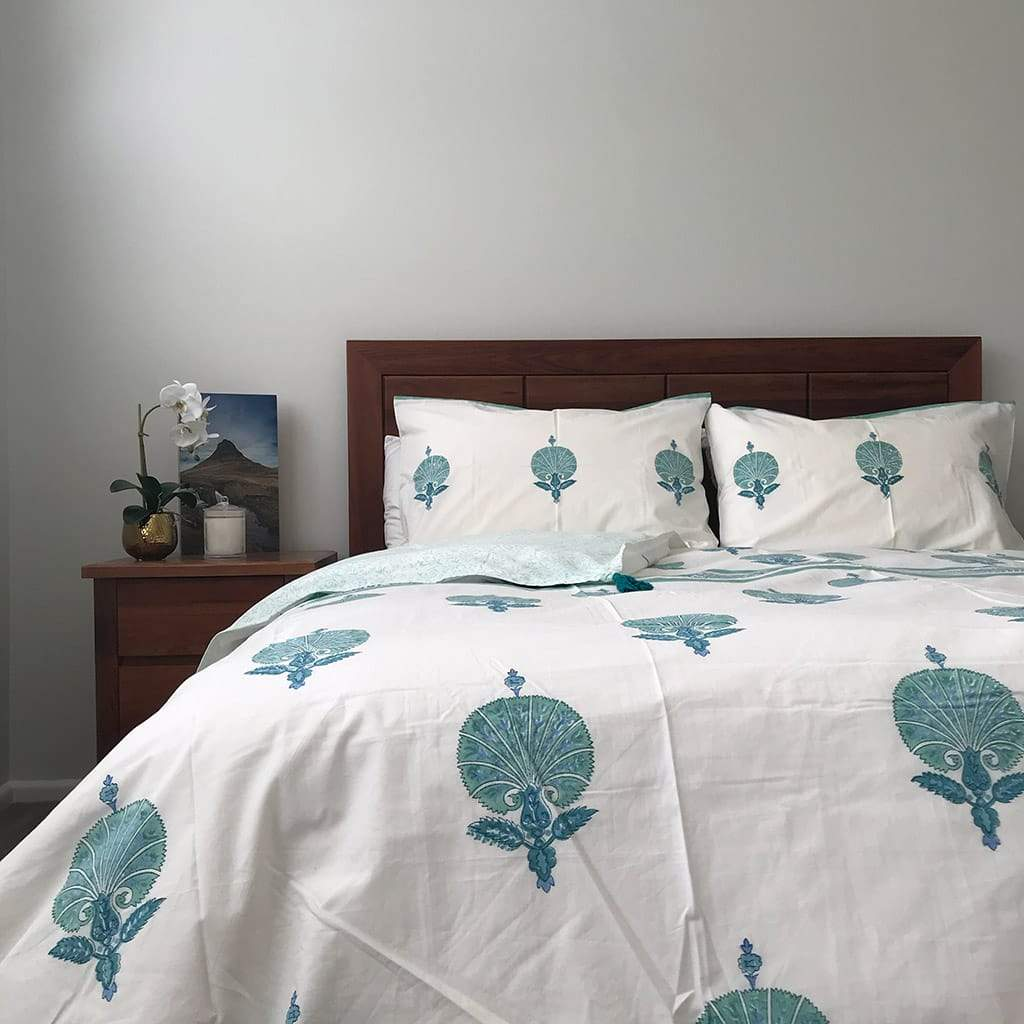 Peacock Quilt Cover Set