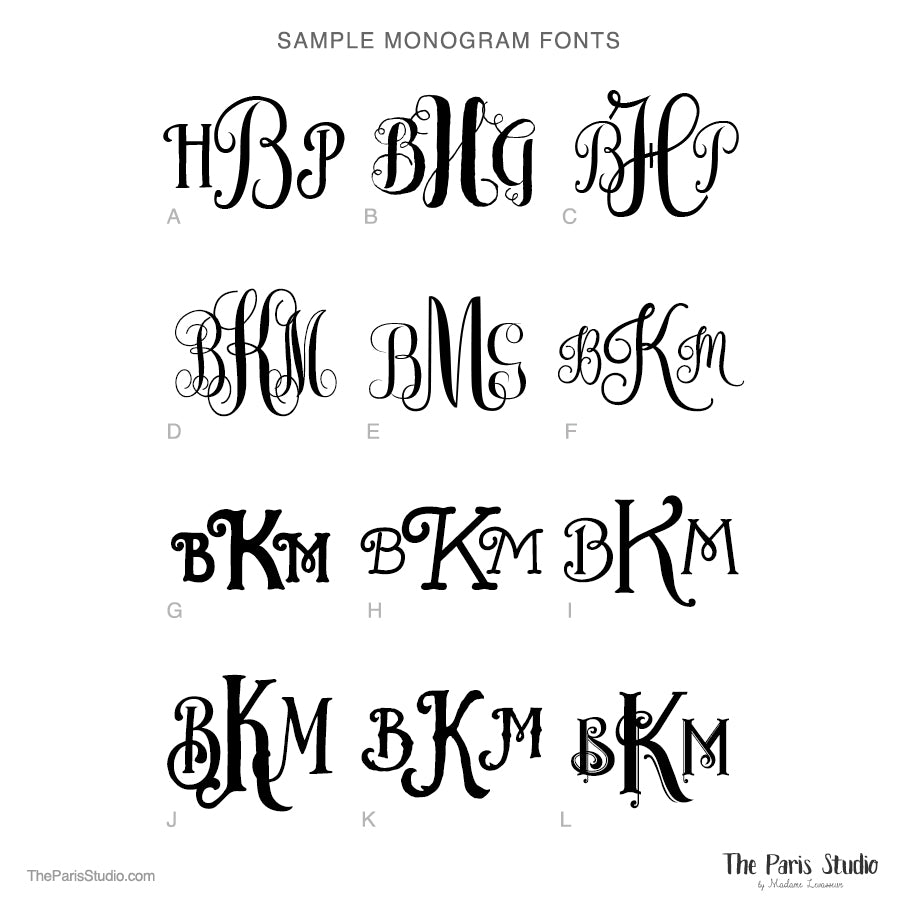 Monogram Logo Design Fonts