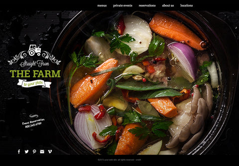 Web Design: Restaurant Business Website on Wordpress or Squarespace