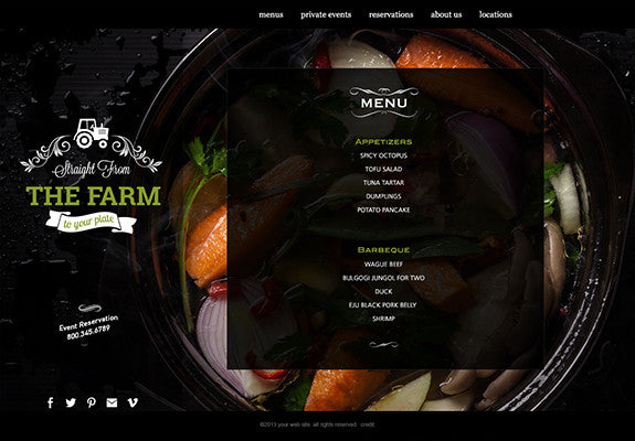 Web Design: Restaurant Business Website on Wordpress