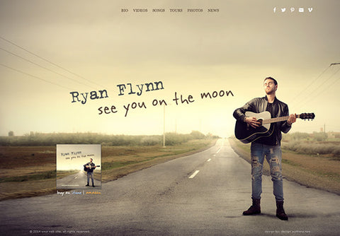 Web Design: Musician Performer Portfolio Website on Wordpress or Squarespace