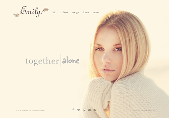 Web Design: Artist Performer Portfolio Website on Wordpress