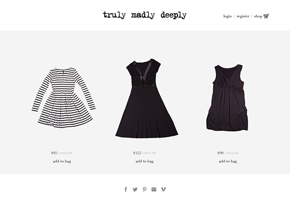 Web Design:  Shopify E-commerce Boutique Website