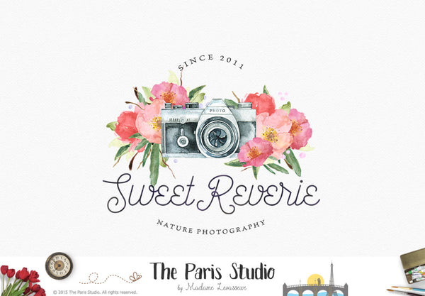 Wedding Photography Studio Logo: Watercolor Camera Logo Pay As You Go Custom Logo Design By