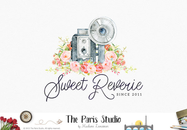 Watercolor Camera Logo Design