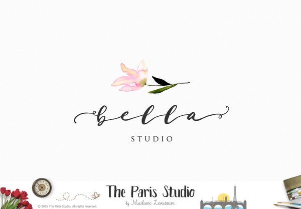 Watercolor Floral Logo Design