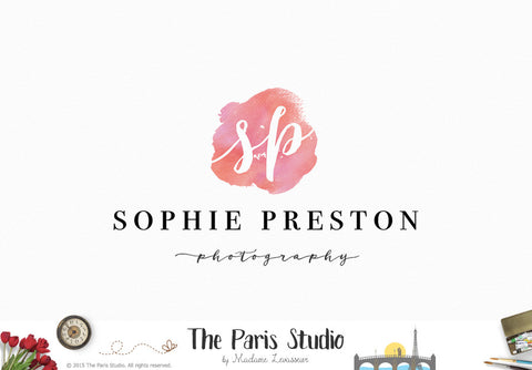 Watercolor Background Logo Pay As You Go Custom Logo Design