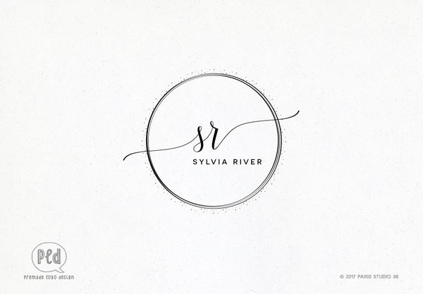 Feminine Hand Drawn Monogram Logo Design