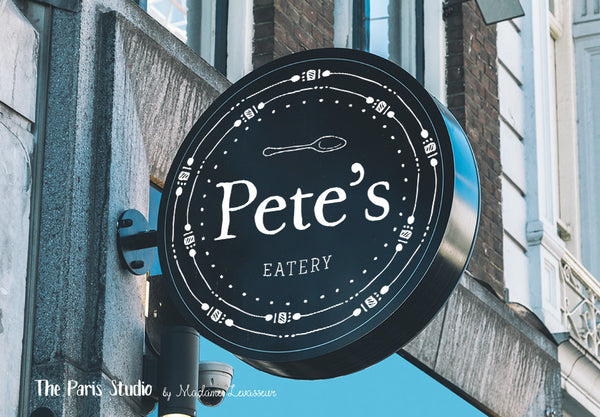 Custom Logo Design: restaurant logo design, boutique branding design, photography branding