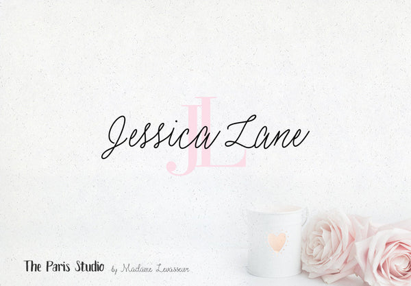 Hand Written Monogram Logo Design