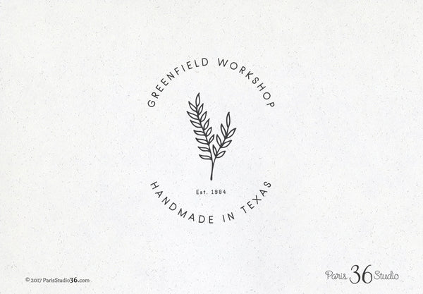 Hand Drawn Style Botanic Badge Logo Design