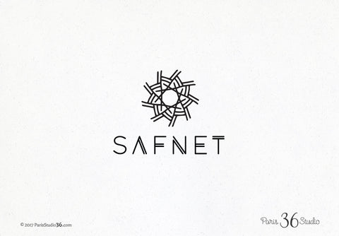 Vintage Hand Drawn Geometric Logo Design