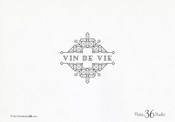 Vintage Decorative Geometric Logo Design