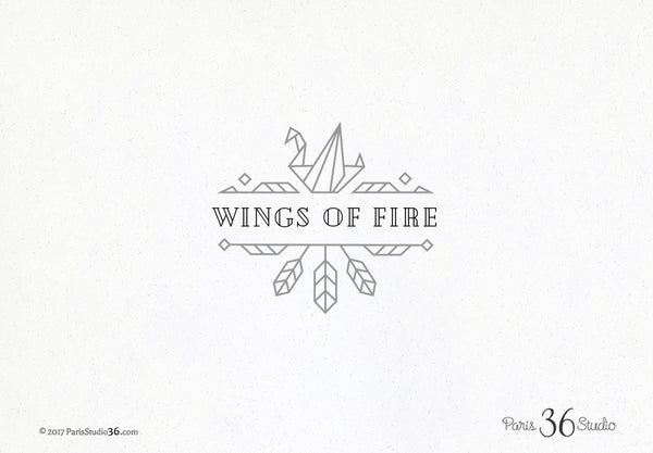 Vintage Geometric Decorative Logo Design