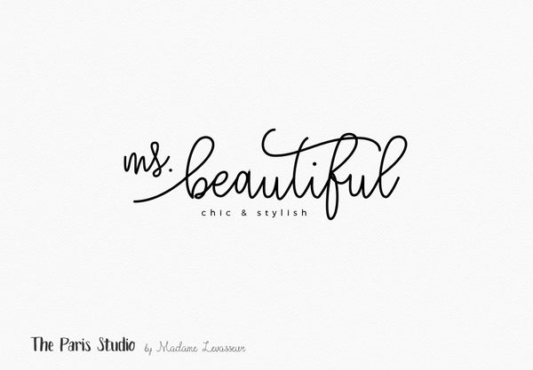 Watercolor Handwriting Logo Design