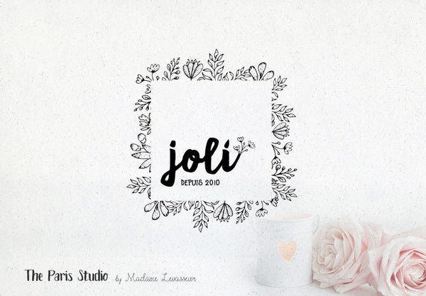 Hand Drawn Style Floral Logo Design