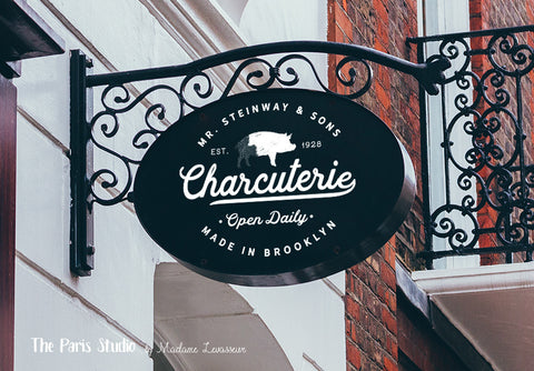 Vintage Badge Restaurant & Food Logo Design
