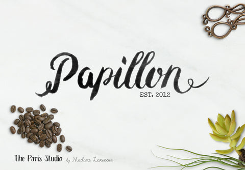 Watercolor Typographic Vintage Logo Design