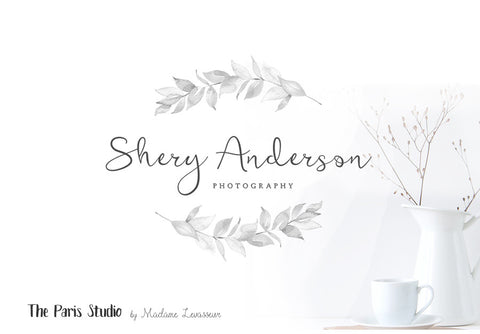 Watercolor Floral Photography Logo Design
