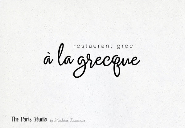 Typographic Restaurant Logo Design