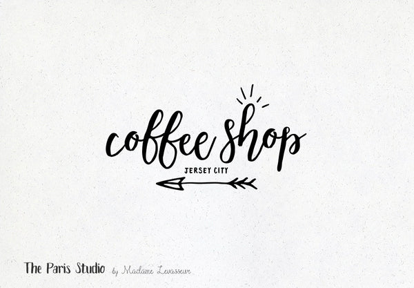 Hand Drawn Style Boho Arrow Logo Design