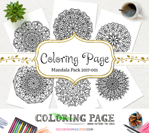 Printable Adult Coloring Page Floral Mandala Vol. 1