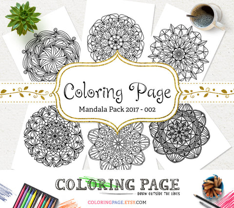 Printable Adult Coloring Page Floral Mandala Vol. 2