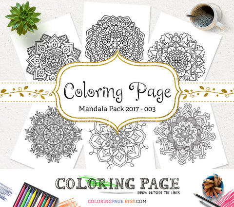 Printable Adult Coloring Page Floral Mandala Vol. 3