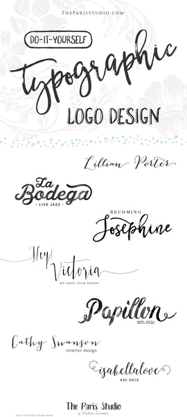 Typographic Logo Design: DIY Instant Logo Design Process