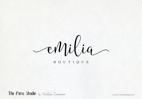 Typographic Boutique Logo Design