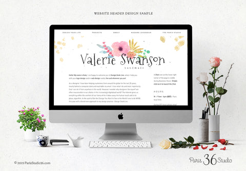 E-commerce Website Header Design, Social Media Cover Design, Squarespace Website Header Design