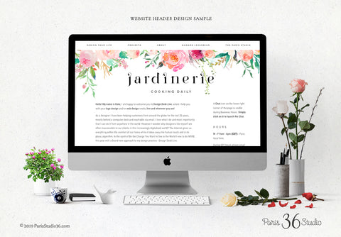 Squarespace Website Header Design, Facebook Cover Design, Twitter Cover Design, Etsy Shop Cover