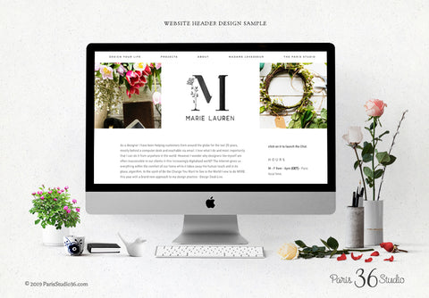 Etsy Cover Photo Design, Social Media Cover design, Wordpress Website Header Design