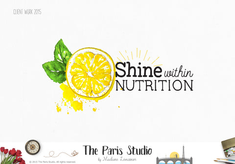 Watercolor Fruits Logo Design