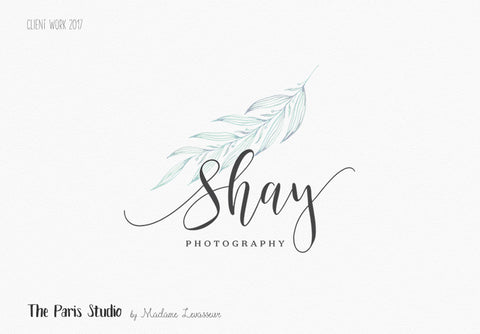 Watercolor Leafy Photography Logo Design