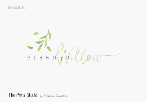 Watercolor Leafy Logo Design