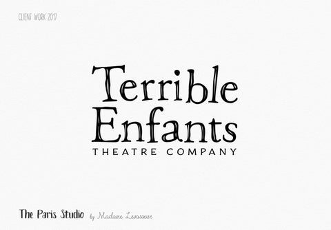 Typographic Theater Arts Logo Design