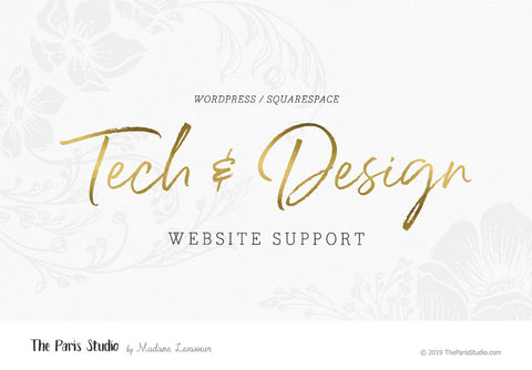 Wordpress or Squarespace Website Design Support: Wordpress theme customization, website maintenance, installation help (€99/HR)