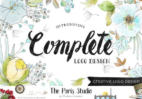 Complete Custom Logo Design: website branding, small business and boutique branding design