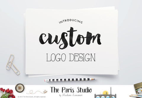 Custom Logo Design: website branding, small business and boutique branding design