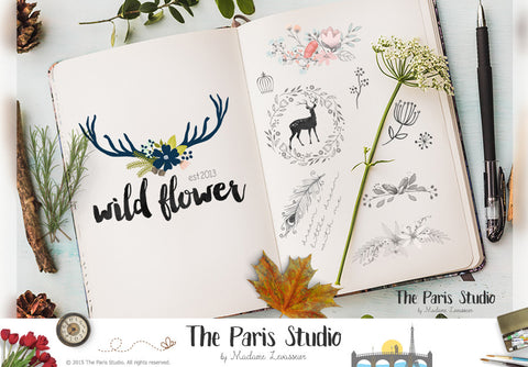 Custom Logo Design: boutique logo design, photography branding and e-commerce website branding