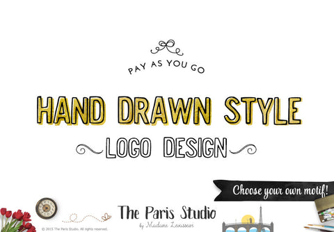 Custom Logo Design Hand Drawn Style: Pay As You Go