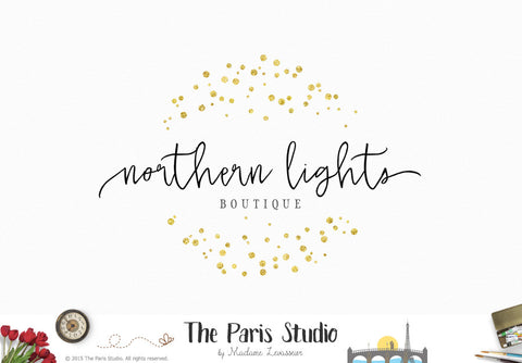 Gold Foil Circle DIY Instant Logo Design