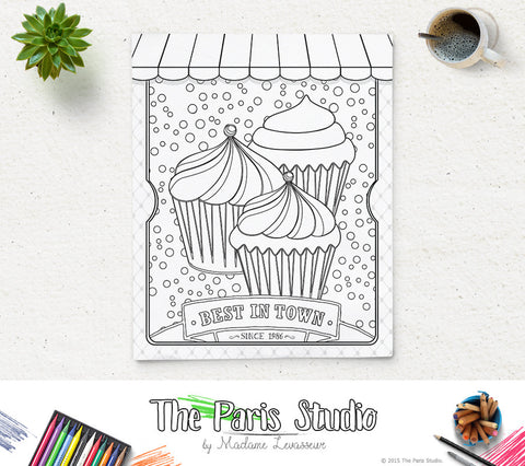 Printable Coloring Page Vintage Poster 1