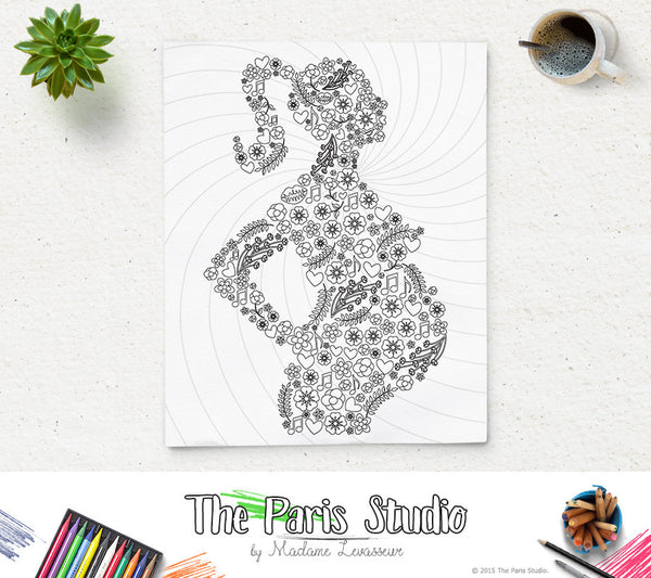 Printable Coloring Page Mother To Be