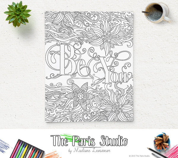 Printable Coloring Page Be You